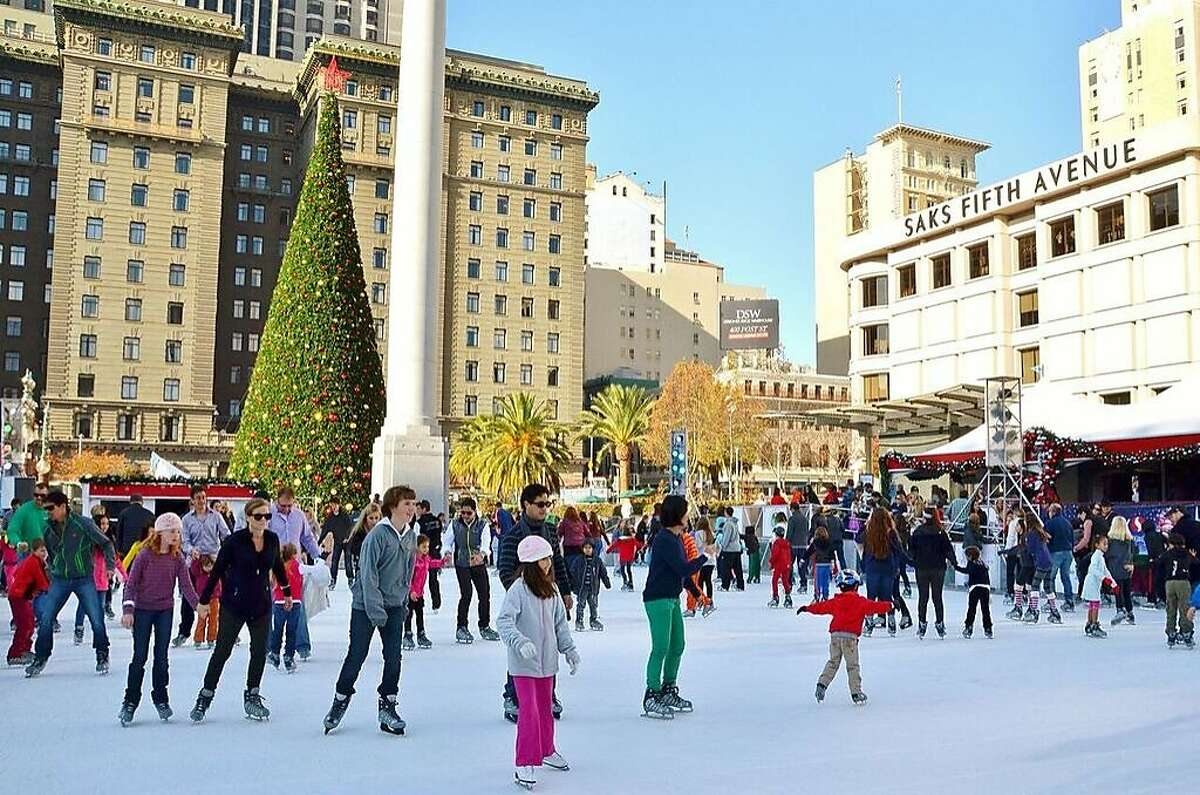 Outdoor ice skating is a popular activity at Union Square, but where should you eat afterwards?