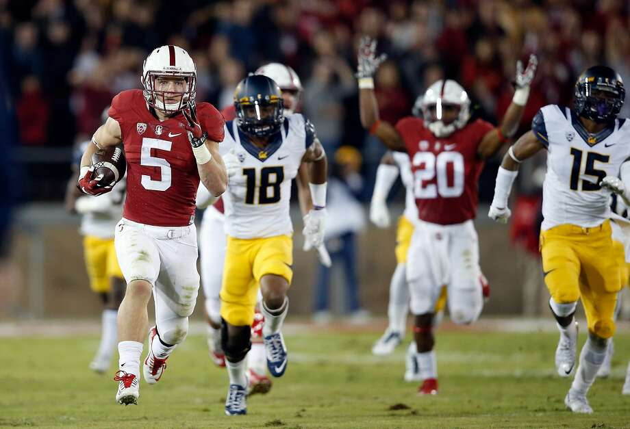 Christian McCaffrey (5) has a high-profile chance Saturday to enhance his Heisman standing. Photo: Ezra Shaw, Getty Images