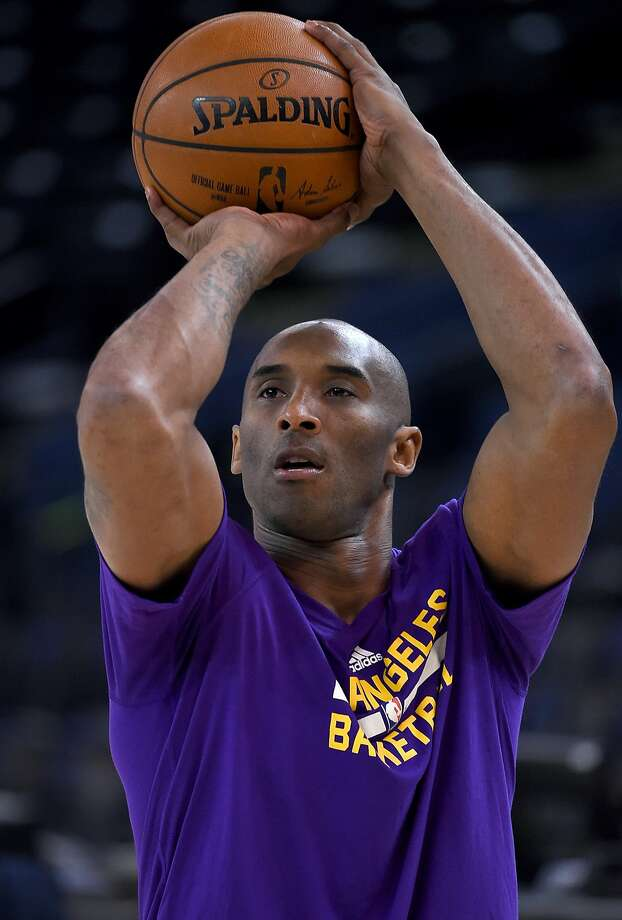 OAKLAND, CA - NOVEMBER 24:  Kobe Bryant #24 of the Los Angeles Lakers warms up prior to playing the Golden State Warriors in an NBA basketball game at ORACLE Arena on November 24, 2015 in Oakland, California. (Photo by Thearon W. Henderson/Getty Images) Photo: Thearon W. Henderson, Getty Images