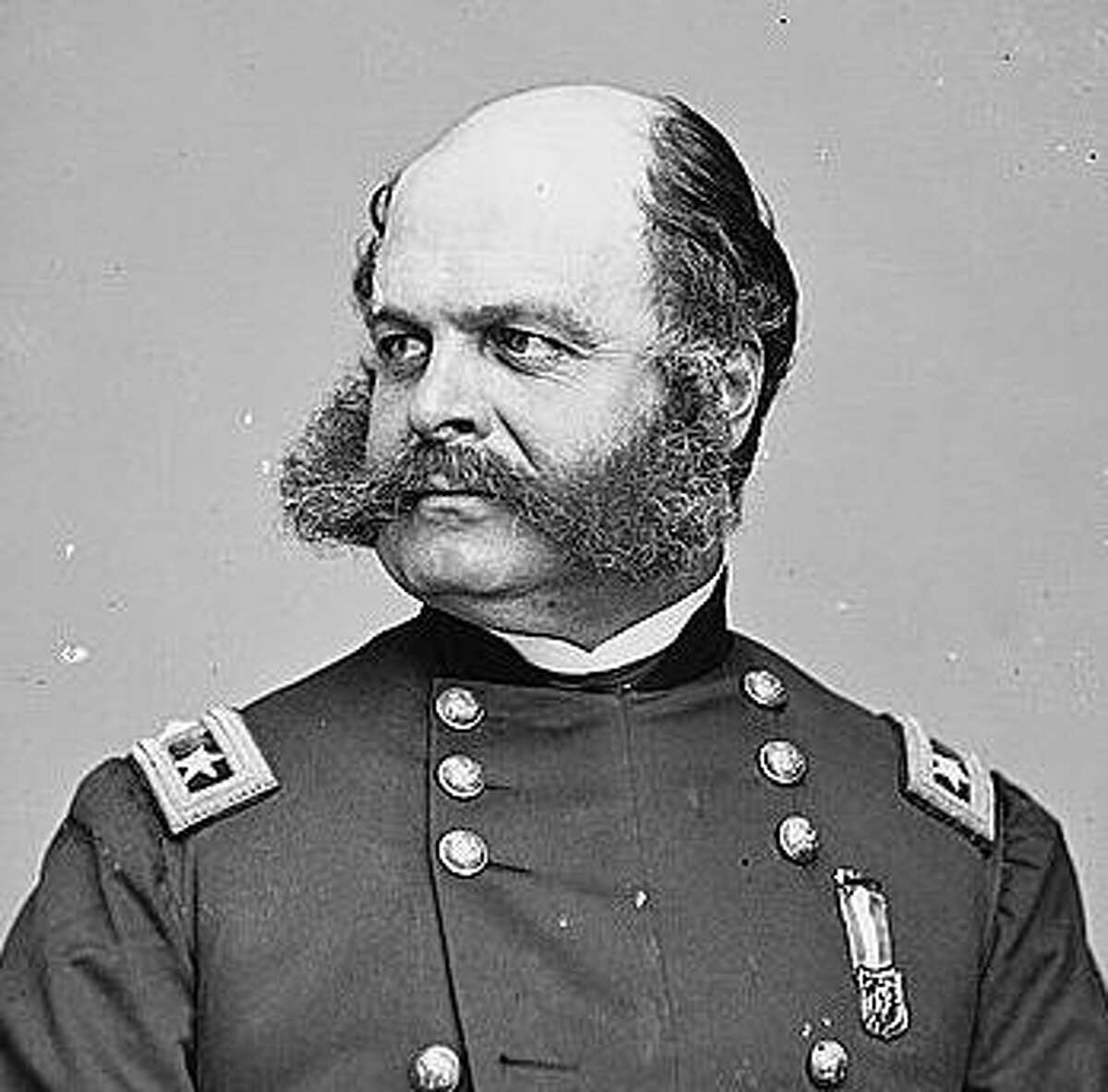 If he were alive today, Maj. Gen. Ambrose Burnside would be a poor candidate for an N95 mask.