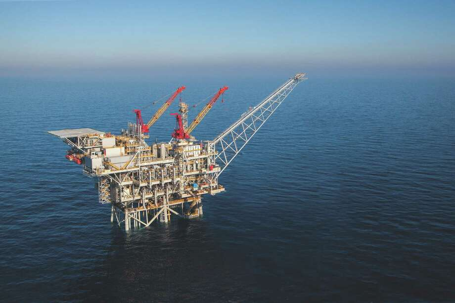 Houston-based Noble Energy, which operates this platform in the Tamar field off Israel's coast, has resolved an antitrust dispute that had stalled expansion of Tamar and development of another Mediterranean field,  the Leviathan  (Noble Energy photo) Photo: Noble Energy