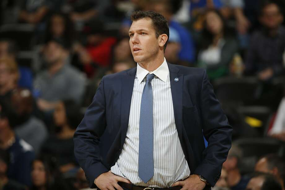 Golden State Warriors interim head coach Luke Walton in the second half of an NBA basketball game Sunday, Nov. 22, 2015, in Denver. Golden State won 118-105. (AP Photo/David Zalubowski) Photo: David Zalubowski, Associated Press