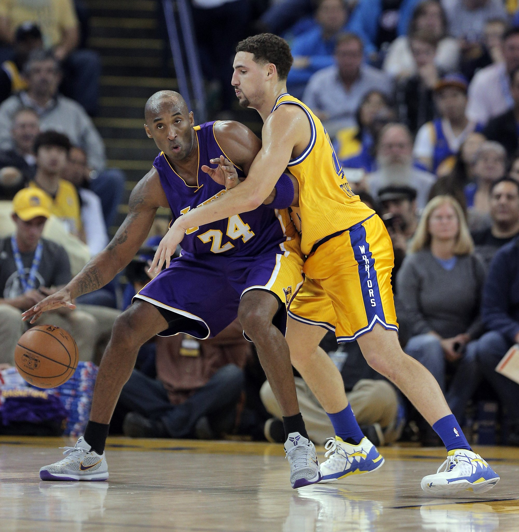 best service e8ce2 44a47 Klay Thompson-Kobe Bryant, in the eyes of TNT s Grant Hill - San Antonio  Express-News