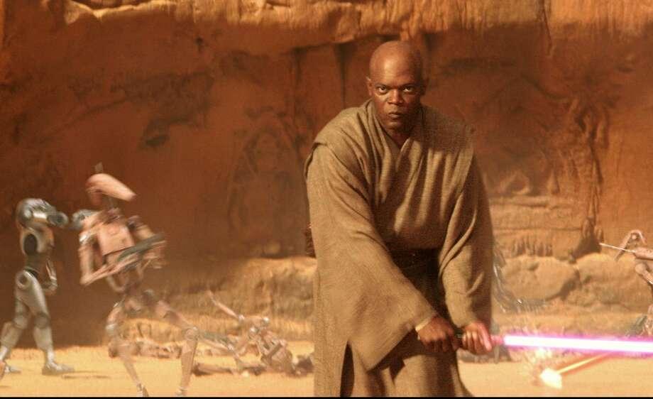 "Samuel L. Jackson stars in ""Star Wars: Episode II - Attack of the Clones."" Photo: Lucasfilm Ltd."