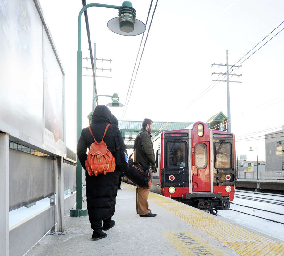 Metro-North was reporting delays on the New Haven Line because of disabled equipment in Port Chester, N.Y. on Wednesday, Nov. 25, 2015- the day before Thanksgiving. Photo: Bob Luckey / Greenwich Time