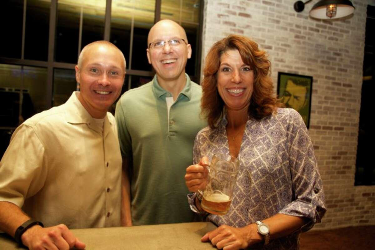 Rob Porod, Dan Sadler, and Stephanie Garrow are at Bowl and Barrel.