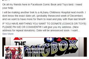Longbox Comics Trek to Albany Children's Hospital - Photo