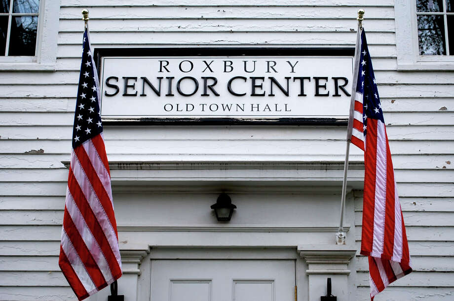 The Roxbury Senior Center on South Street is the site for weekday bus trip pick up to shopping centers around the area in the new 12-passenger senior/disabled resident bus. Photo: Deborah Rose / ST / The News-Times