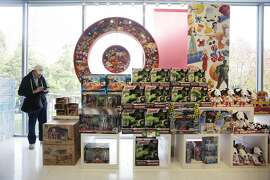 A Visual Impact Area (VIA) in the toy department includes a Target symbol filled with toys in the display at Target on Tuesday, November 24,  2015 in San Francisco, Calif.