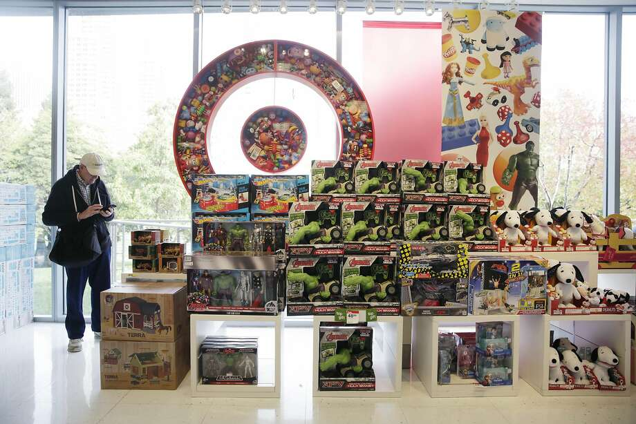 A Visual Impact Area (VIA) in the toy department includes a Target symbol filled with toys in the display at Target on Tuesday, November 24,  2015 in San Francisco, Calif. Photo: Lea Suzuki, The Chronicle
