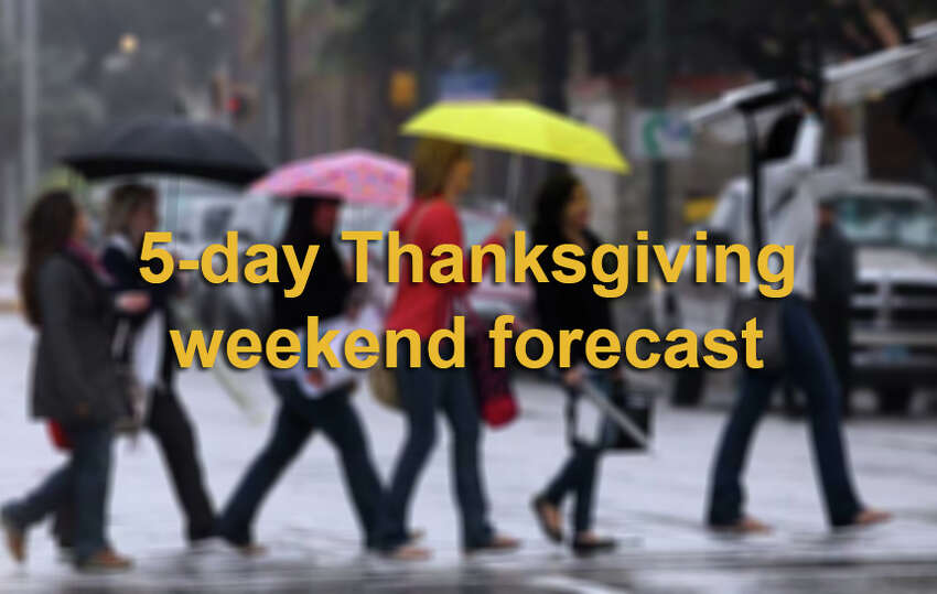 Here is San Antonio's 5-day weather outlook for Thanksgiving weekend, according to the National Weather Service.