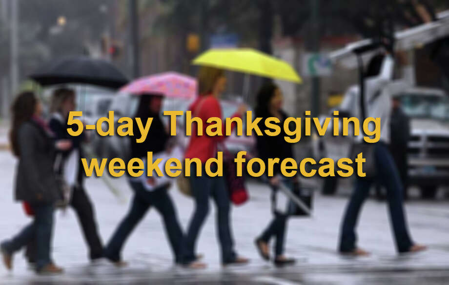 Here is San Antonio's 5-day weather outlook for Thanksgiving weekend, according to the National Weather Service. Photo: JOHN DAVENPORT, San Antonio Express-News / SAN ANTONIO EXPRESS-NEWS (Photo may be sold to the public)