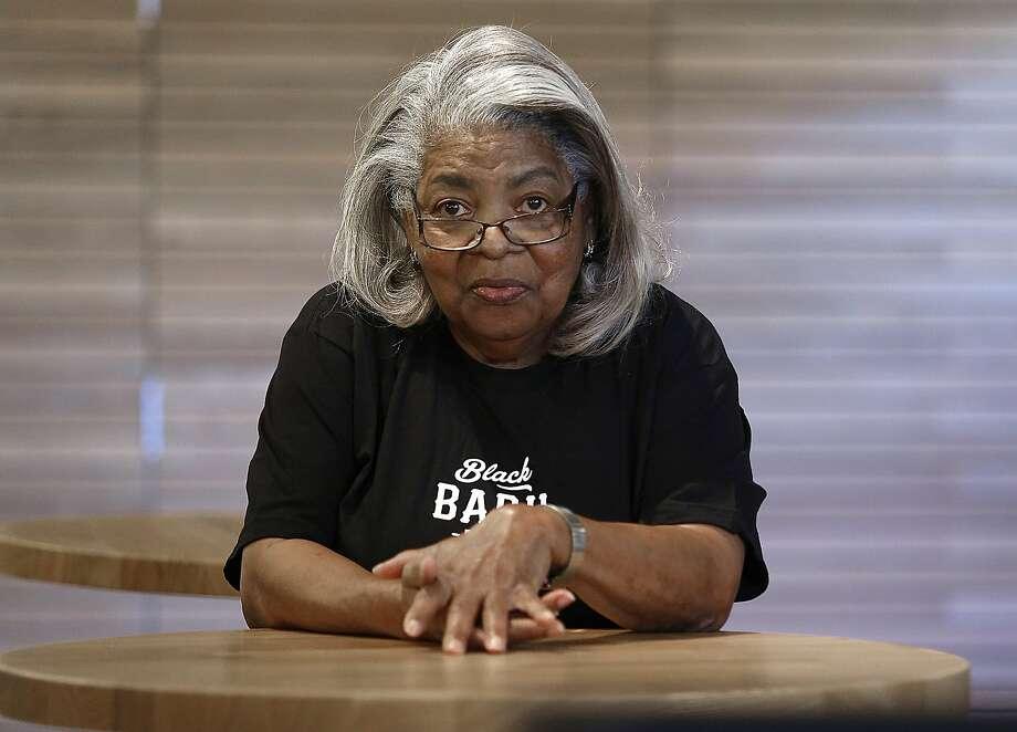 Edith Cheadle at Black Bark barbecue restaurant. Photo: Liz Hafalia, The Chronicle