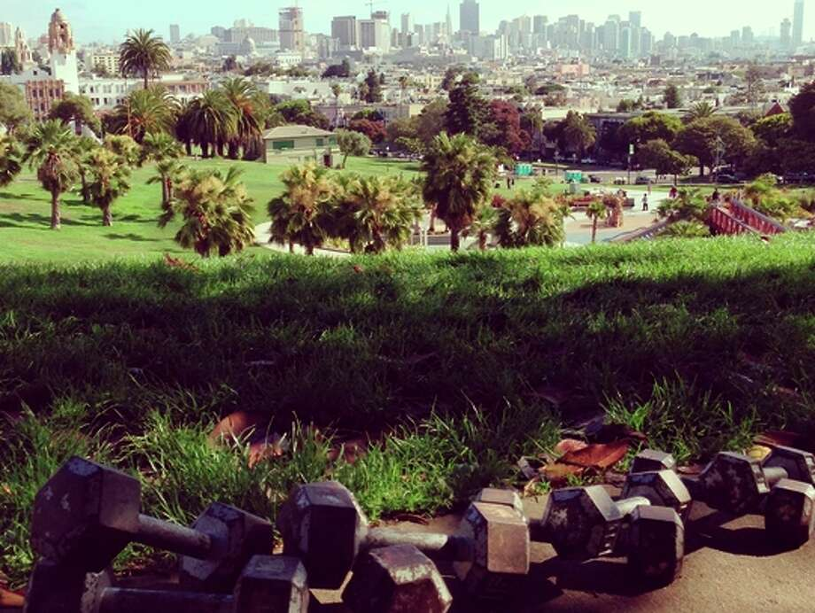 All are welcome for the Turkey Day Workout at Mission Dolores Park.