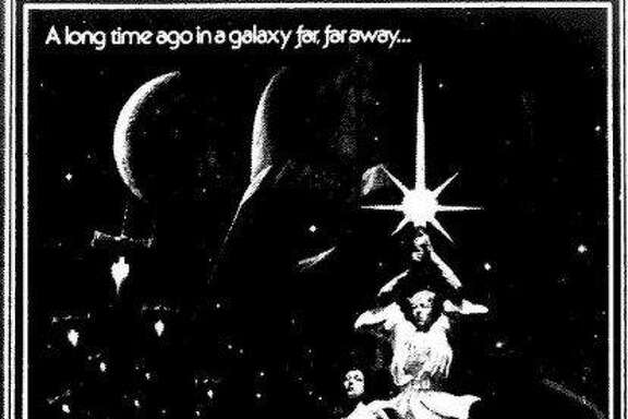 "A Chronicle ad featuring the movie poster for ""Star Wars"" when it opened at the Coronet Theatre in 1977."