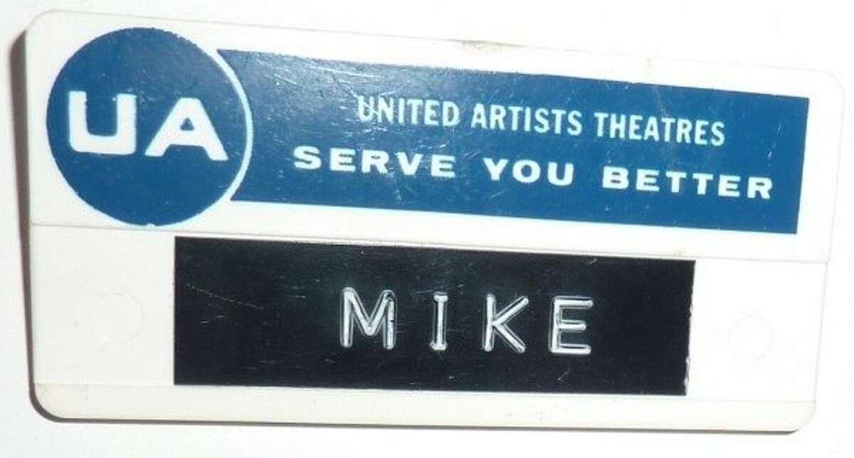 The 1977 Coronet Theatre badge for employee Michael Hylton.