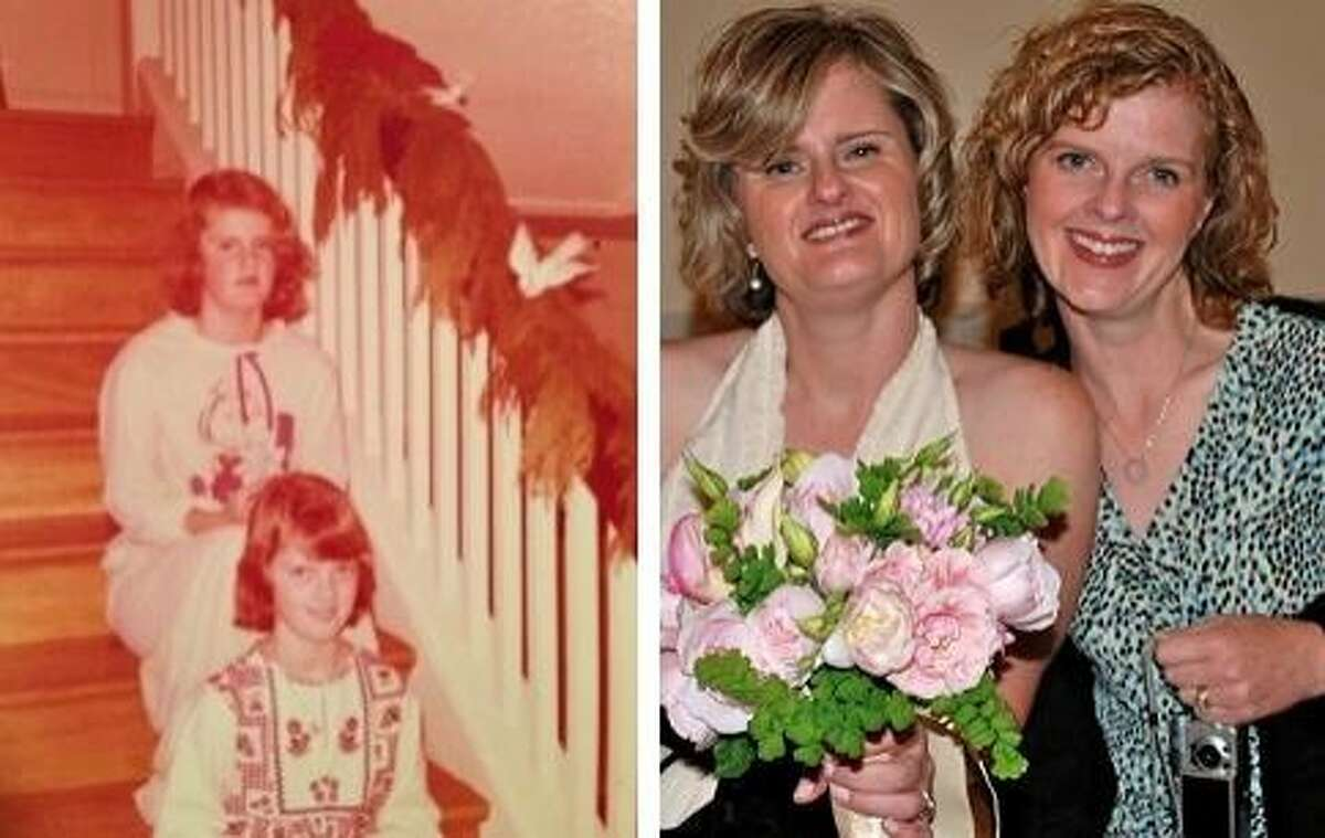 Kate Grey and Beth MacLean in 1977 and 2012.