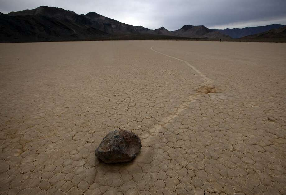DEATH VALLEY, CA., DECEMBER 10, 2015:  Even though the mystery of the moving rocks and their even more mysterious tracks has been solved, the Racetrack is still a huge part of the lore of Death Valley National Park DECEMBER 10, 2015 (Mark Boster / Los Angeles Times ). Photo: Mark Boster, Los Angeles Times