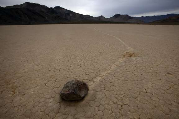 DEATH VALLEY, CA., DECEMBER 10, 2015:  Even though the mystery of the moving rocks and their even more mysterious tracks has been solved, the Racetrack is still a huge part of the lore of Death Valley National Park DECEMBER 10, 2015 (Mark Boster / Los Angeles Times ).