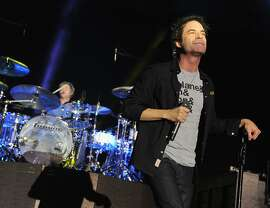 Pat Monahan of Train performs at Central Park on August 27, 2012 in New York City.  (Photo by Theo Wargo/Getty Images)