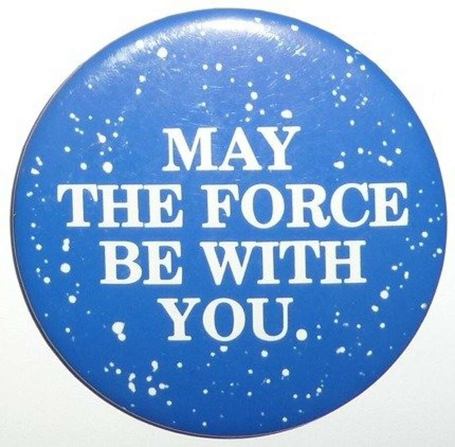 "A ""Star Wars"" pin from 1977. Photo: Michael And Alan Hylton"