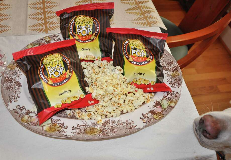 King of Pop's turkey-dinner-flavored popcorn Photo: Melissa Ward ...