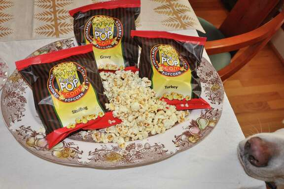 King of Pop's turkey-dinner-flavored popcorn