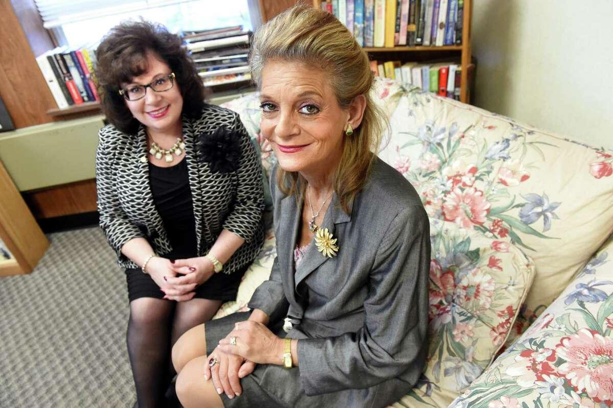Executive director Nicole McFarland, left, and successful program graduate Sherri Finkel on Tuesday, Nov. 24, 2015, at Senior Hope in Albany, N.Y. (Cindy Schultz / Times Union)