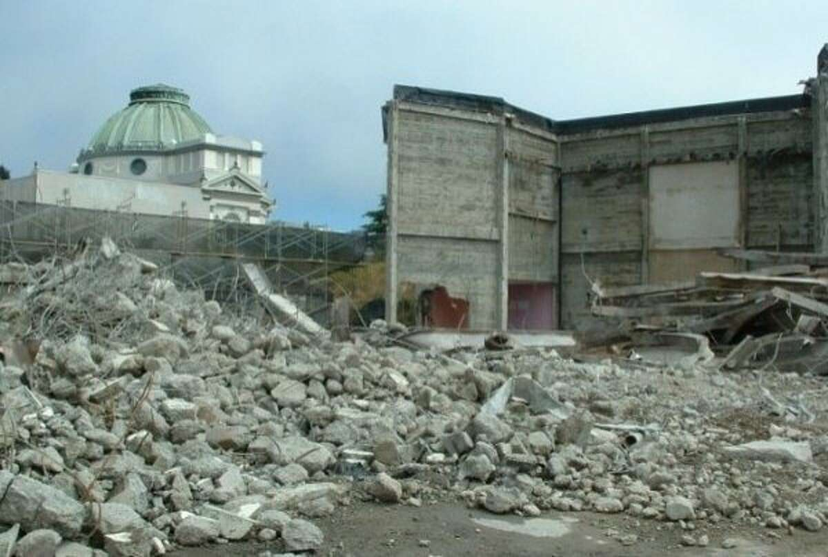 The Coronet Thetare in San Francisco as it was being demolished in 2007.