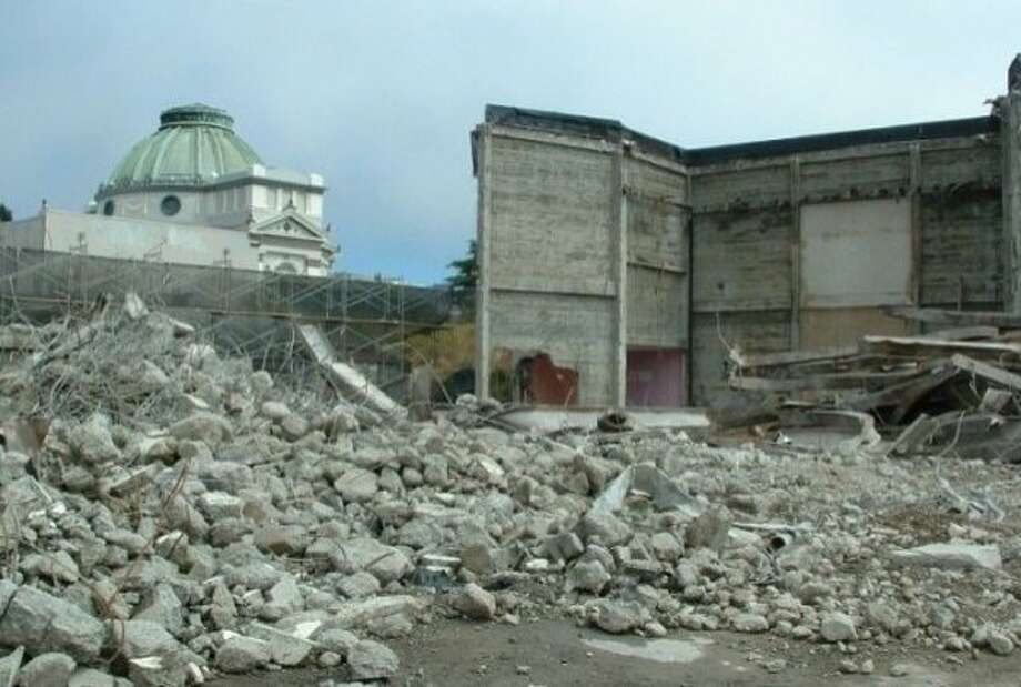 The Coronet Thetare in San Francisco as it was being demolished in 2007. Photo: Jim Cassedy