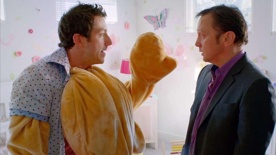 """Jamie Lissow, Rob Schneider in """"Real Rob."""" Photo: Netflix"""