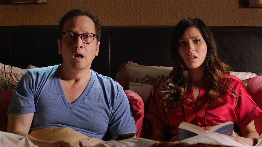 "Rob Schneider, Patricia Azarcoya Arce in ""Real Rob"". Photo: Netflix"