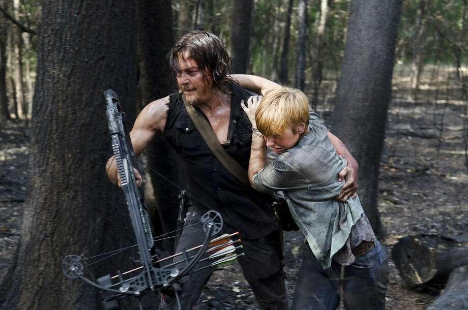 """A scene from season 6 of """"The Walking Dead."""" Fans might like a """"Walking Dead"""" night-light. Photo: Gene Page, Associated Press"""