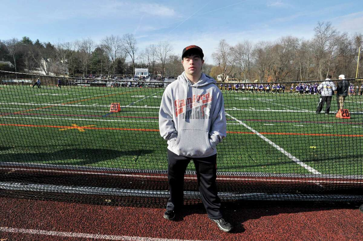 Joe Lupinacci graduated from Stamford High School and returned while at his first year at the College of St. Rose, in Albany, to watch their football team take on Westhill High School on Thanksgiving.
