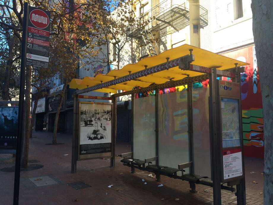 An unidentified homeless woman delivered a baby at a Muni stop at Market and Sixth streets in San Francisco on the afternoon of Monday, Nov. 23, 2015. A bike messenger, whose name also is unknown, helped care for the baby boy until the fire department arrived. Photo: Amy Graff