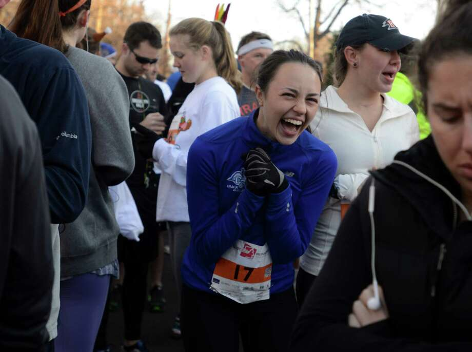 The 38th annual Pequot Runners Thanksgiving Day 5-mile race takes place Thursday, Nov. 26, 2015, in Southport, Conn. Photo: Autumn Driscoll / Hearst Connecticut Media / Connecticut Post