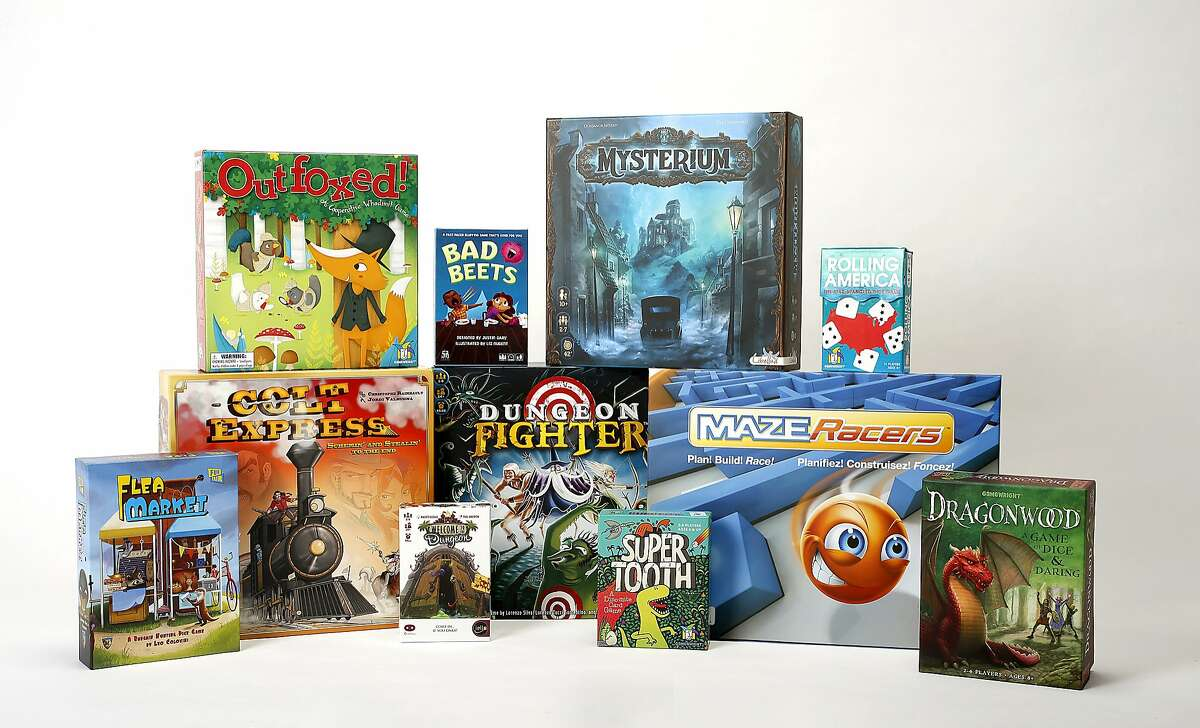 Recent game boxes in San Francisco, California, on Wednesday, November 25, 2015.
