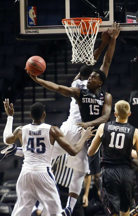 Stanford's Marcus Allen looks for a way to score against Villanova, which held the Cardinal to 26-percent shooting. Photo: Frank Franklin II, Associated Press