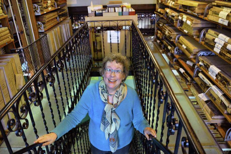 President of the Friends of the Troy Public Library Mary Muller in the library's third floor stacks Friday Nov. 13, 2015 in Troy, NY.  (John Carl D'Annibale / Times Union) Photo: John Carl D'Annibale / 00034228A