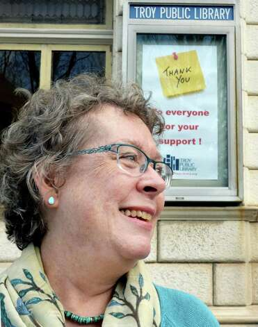 President of the Friends of the Troy Public Library Mary Muller outside the library Friday Nov. 13, 2015 in Troy, NY.  (John Carl D'Annibale / Times Union) Photo: John Carl D'Annibale / 00034228A