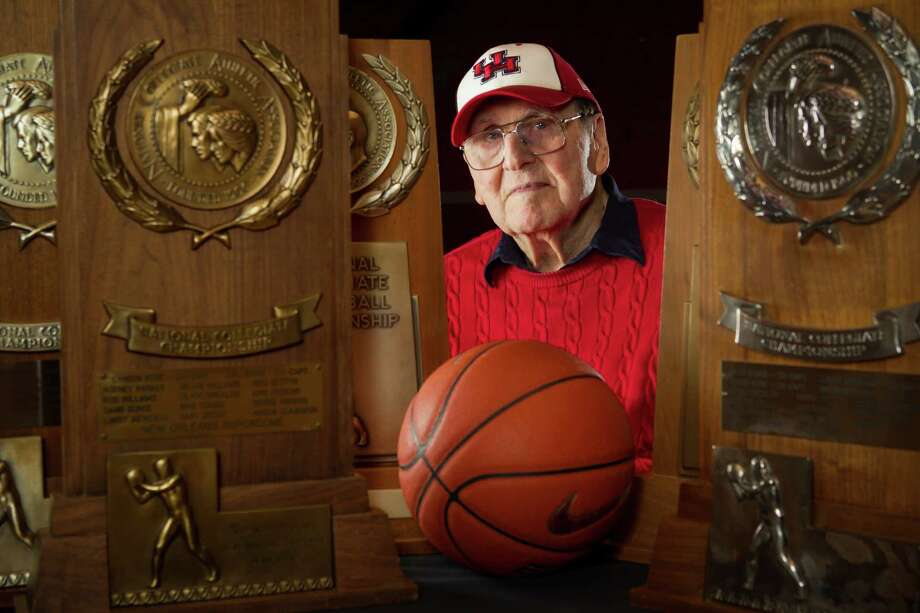 Former University of Houston basketball coach Guy V. Lewis, who was inducted into the Naismith Basketball Hall of Fame in 2013, was no stranger to winning, leading the University of Houston to 592 victories and five trips to the NCAA Final Four. He died Thursday at the age of 93. Photo: Brett Coomer, Staff / © 2013 Houston Chronicle