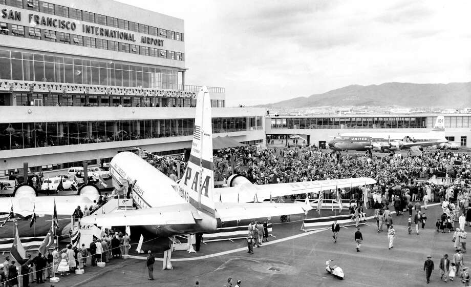 Huge crowds at the new opening celebration of the new  terminal at  San Francisco International Airport.