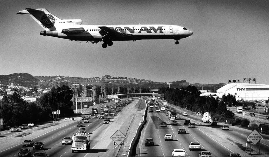 Planes land and take off at runways rarely used because of the wind at San Francisco International Airport in 1987. Photo: Chris Stewart / The Chronicle / ONLINE_YES