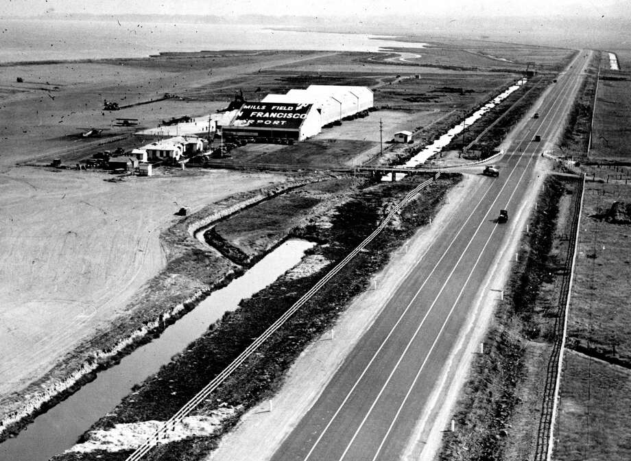 Mills Field in the 1920s, before it was called  San Francisco International airport. Photo: Photographer Uknown / The Chronicle / ONLINE_YES