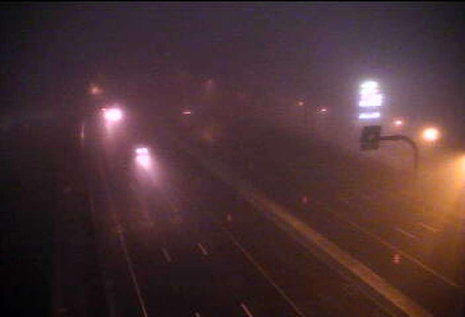 A foggy drive Friday, Nov. 27, 2015 near Exit 32 on I-95 in Stratford. Photo: /