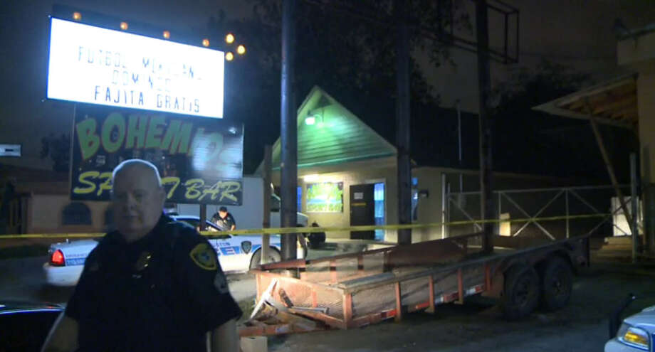 One man was killed early Friday, Nov. 27, 2015 after three men allegedly followed him into the bathroom at Bohemios Sports Bar in the 7700 black of Harrisburg and shot him. Photo: Metro Video