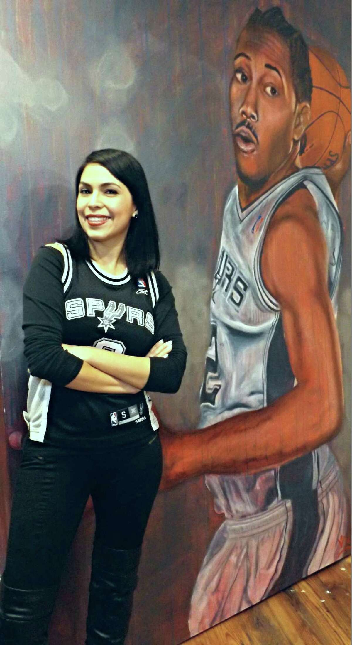 De La Fuente's inspiration for the paintings obviously grew from his longtime love for the team but he said Ginobili's victory face hits on a topic deeper than championship moments.