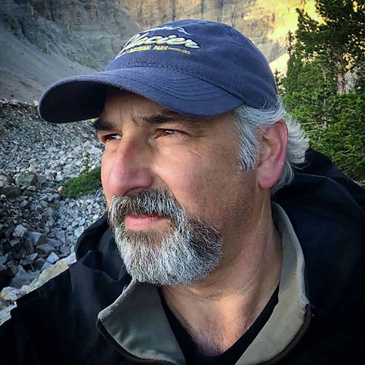 An iPhone photo of photographer Mark Burns in Great Basin National Park, Nevada.