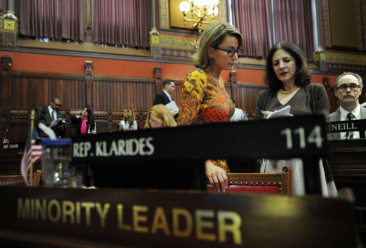Themis Klarides, left, with Gail. Both legislators did not miss any votes this year.