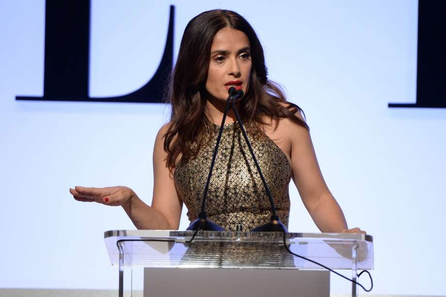 Honoree Salma Hayek speaks onstage during the 22nd Annual ELLE Women in Hollywood Awards presented by Calvin Klein Collection, L'Oréal Paris, and David Yurman at the Four Seasons Los Angeles at Beverly Hills on October 19, 2015 in Beverly Hills, California. Photo: Photo By Michael Kovac/Getty Images